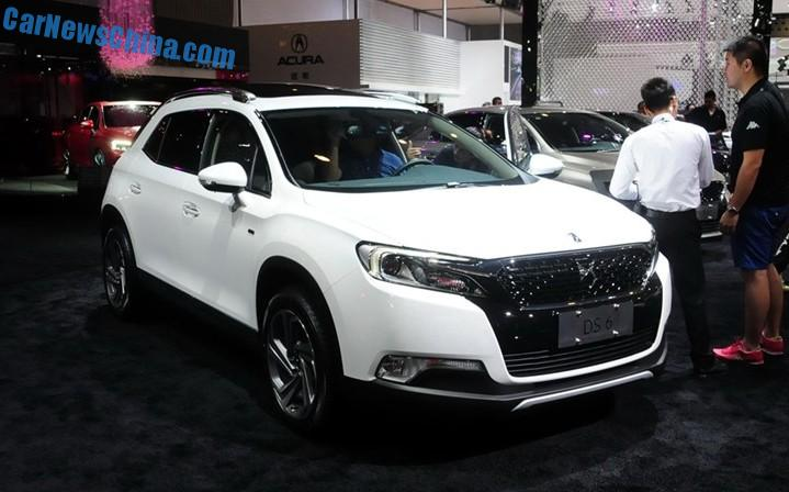 Nowoczesna architektura Citroen DS 6 SUV debuts in China on the Chengdu Auto Show HZ61