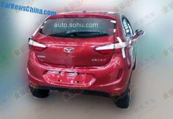 Spy Shots: Cowin C3R hatchback testing in China