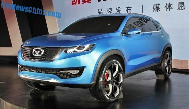 Cowin Auto i-CX SUV concept debuts in China on the Chengdu Auto Show