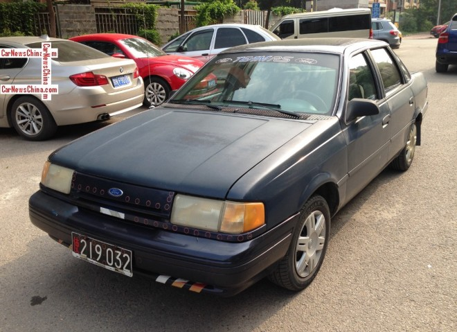 Spotted in China: Ford Tempo GL sedan