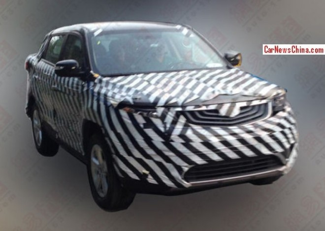Spy Shots: Geely Emgrand SX7 gets a nose job in China