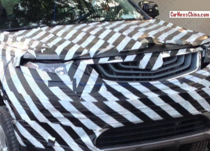 Spy Shots: Geely Emgrand SX7 gets a nose job in China ...