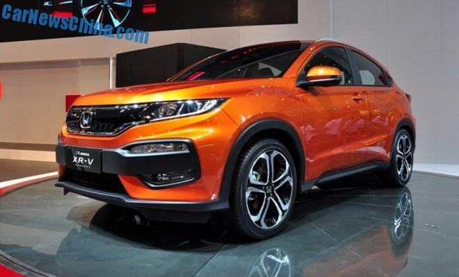 Honda XR-V SUV debuts on the Chengdu Auto Show in China