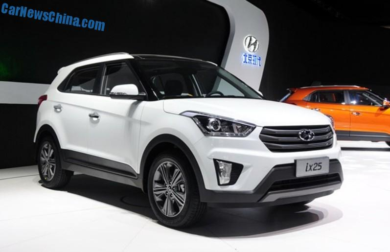 Spy Shots Hyundai Ix25 Suv Is Naked From All Sides In China