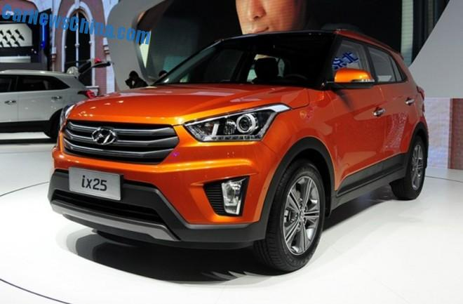 Hyundai ix25 SUV debuts in China on the Chengdu Auto Show