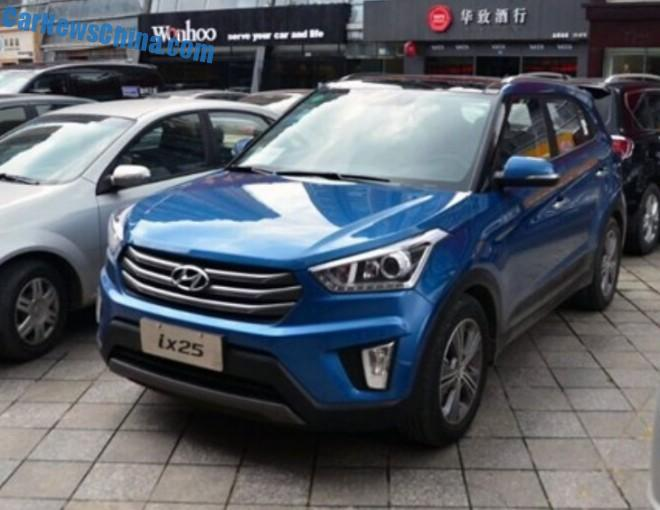This is the Hyundai ix25 SUV for the Chinese car market