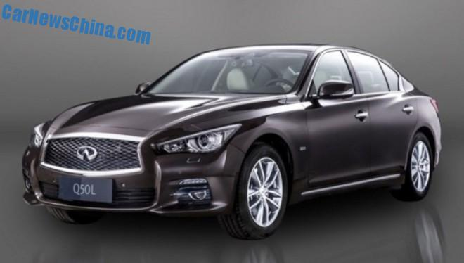 Official Pictures of the Infiniti Q50L for the China car market