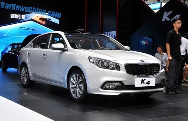 Kia K4 sedan debuts in China on the Chengdu Auto Show