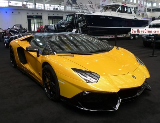 China Super Car Super Spot: Lamborghini Aventador LP 720-4 50° Anniversario Roadster