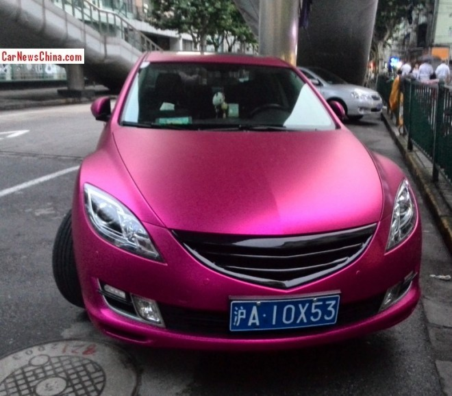 Mazda 6 Atenza is shiny Pink in China