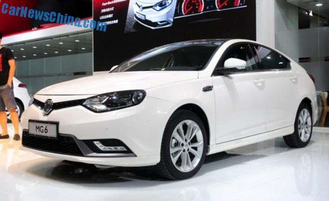 Facelifted MG6 debuts in China on the Chengdu Auto Show