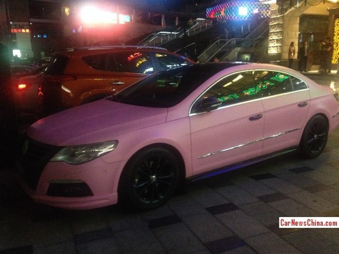 Volkswagen Passat CC is matte Pink in China