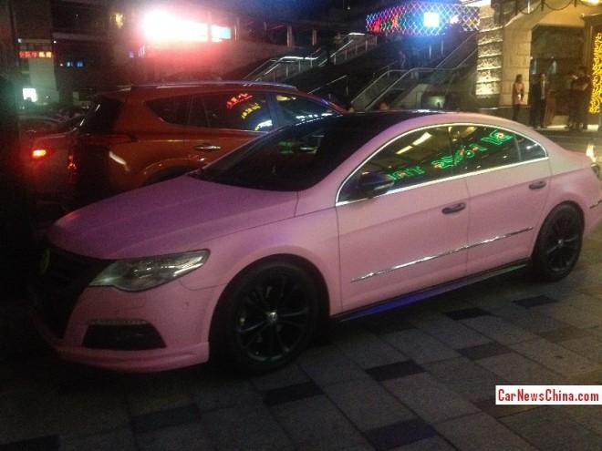 Volkswagen Passat CC is matte Pink in China