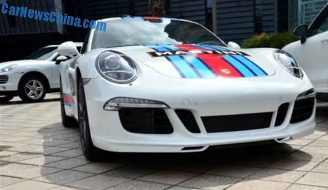 Porsche 911 Carrera S Martini Racing Edition arrives at the Chengdu Auto Show