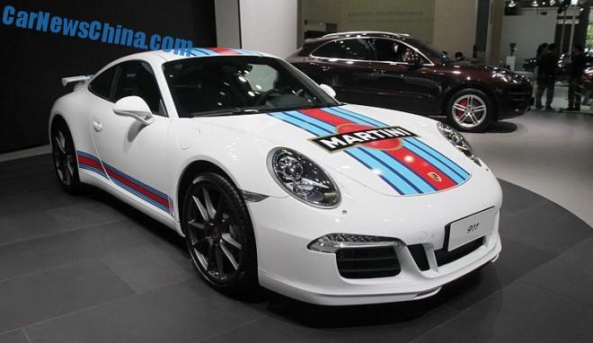Porsche 911 Carrera S Martini Racing Edition debuts in China on the Chengdu Auto Show