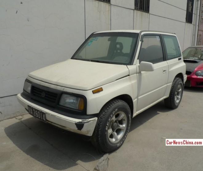 Spotted in China: first generation Suzuki Vitara JX