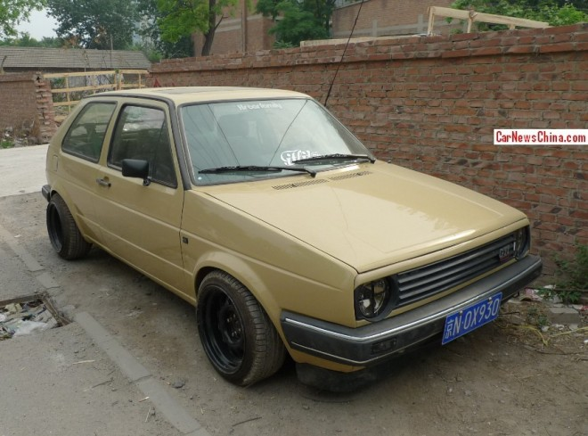 Spotted in China: MK2 Volkswagen Golf CL