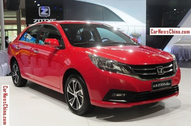 This is the facelifted Zotye Z300 for the Chinese car market