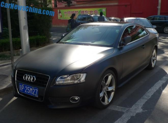 Spotted in China: Audi A5 Coupe in matte black