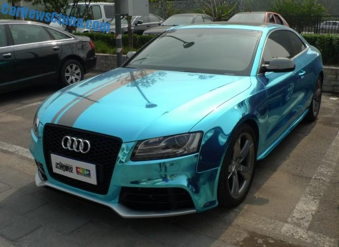 Audi A5 Coupe is shiny blue in China