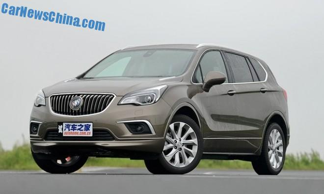 Buick Envision SUV will hit the China car market in October