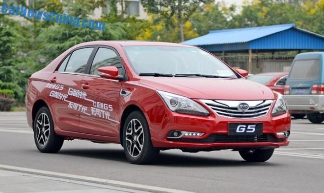 BYD G5 sedan hits the Chinese car market