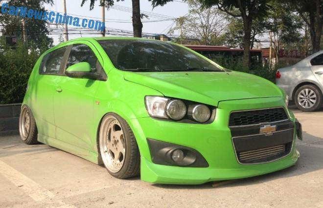Chevrolet Aveo is a low rider in China