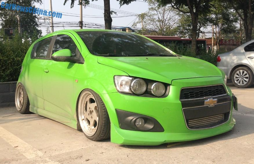 Chevrolet Aveo Is A Low Rider In China Carnewschina