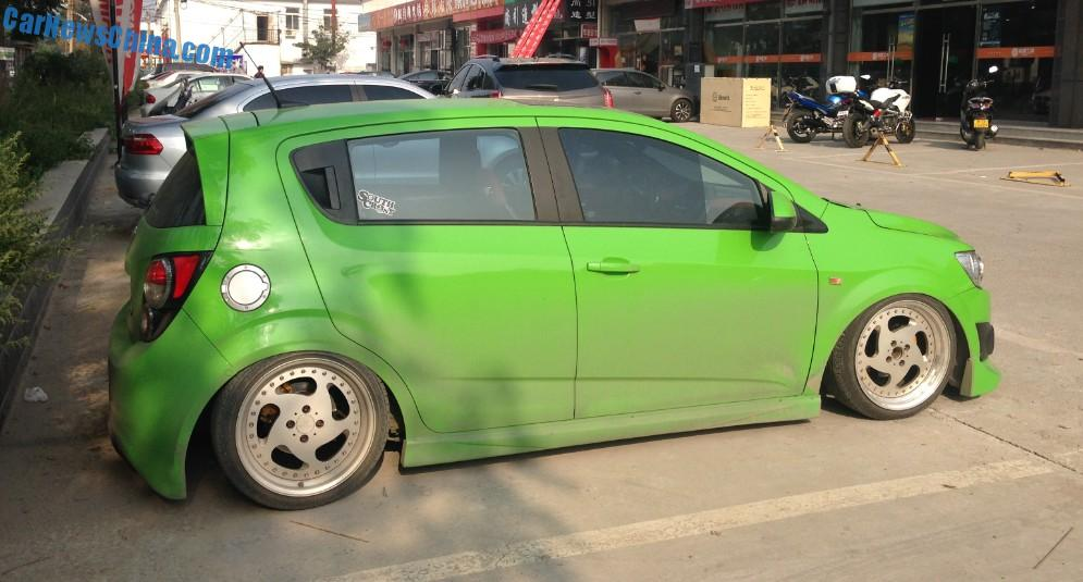 Chevrolet Aveo Is A Low Rider In China Carnewschina Com