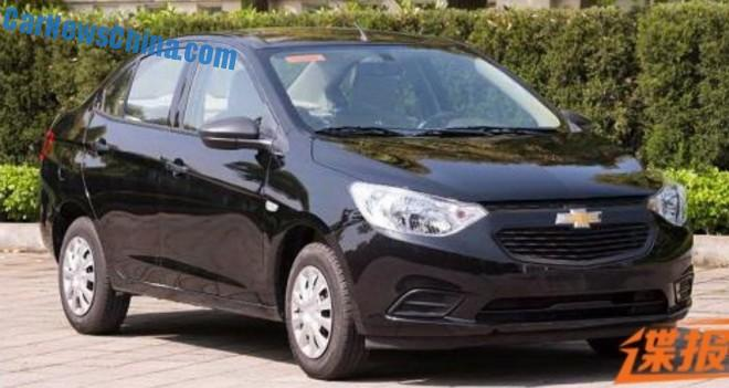 Spy Shots: facelifted Chevrolet Sail is Naked in China
