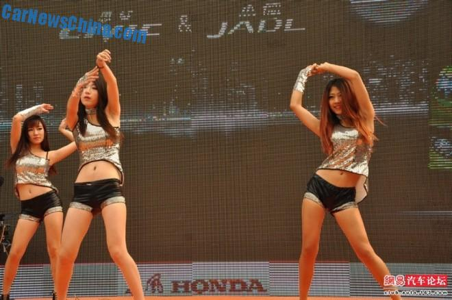 Chinese Car Girls get busy with a Honda Civic and a Jade