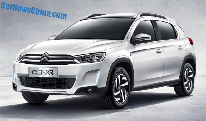 First Official Images of the new Citroen C3-XR for China