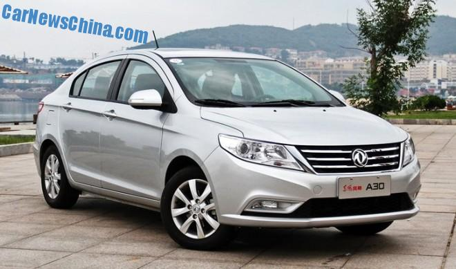 Dongfeng Fengshen A30 sedan launched on the Chinese car market