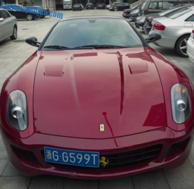 Ferrari 599 GTB Fiorano has a License in China