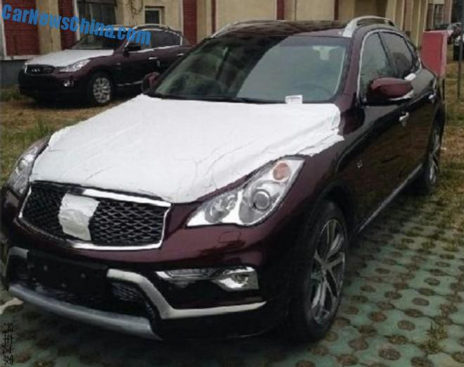 Spy Shots: Infiniti QX50 L is getting Ready for the China car market