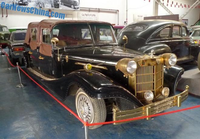 The Jinma QJM5022TYN6 Wedding Car at the Beijing Classic Car Museum