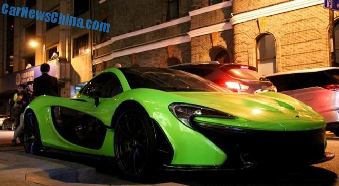 McLaren P1 is lime green in China