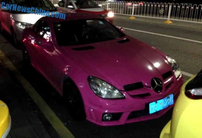 Mercedes-Benz SLK 55 AMG is Pink in China
