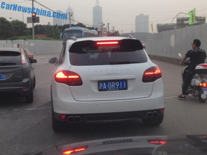 Porsche Cayenne is Confused in China