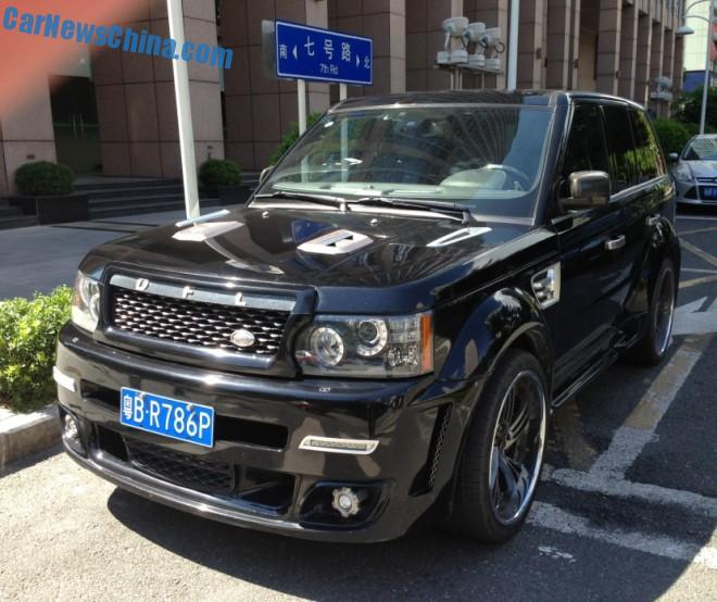 Spotted in China Range Rover Sport with a Monster body kit