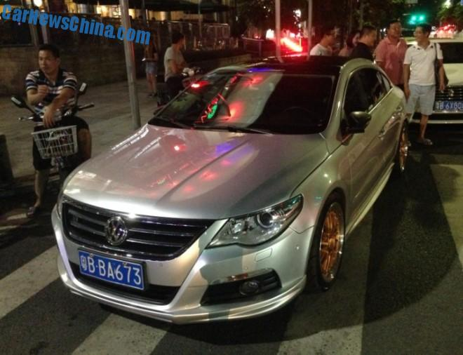 Volkswagen Passat CC is shiny Silver in China