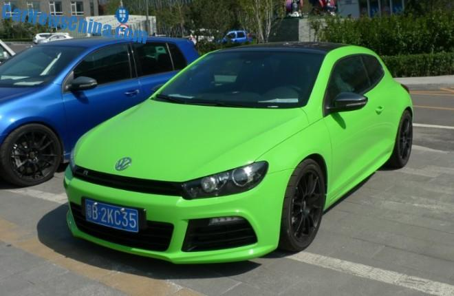 Spotted in China: Volkswagen Scirocco in Froggy green