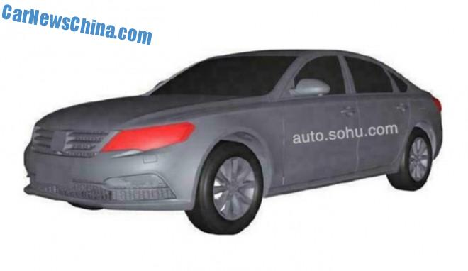Patent Applied: this is the Zotye Z600 sedan for the China car market