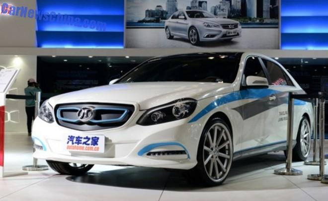 This is the Beijing Auto Senova C90 EV, based on the Mercedes-Benz E-class L