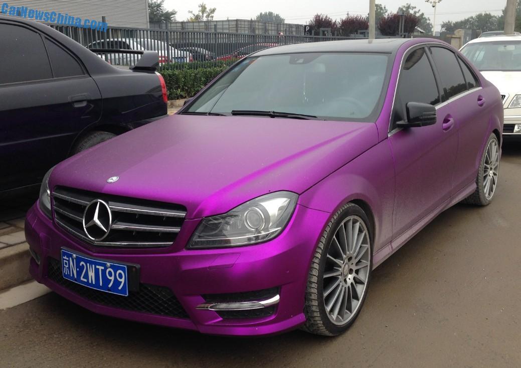 Mercedes Benz C Class Sedan Is Shiny Purple In China Carnewschina Com