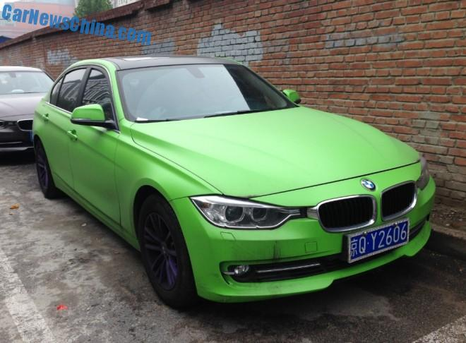 BMW 320Li is matte light green in China