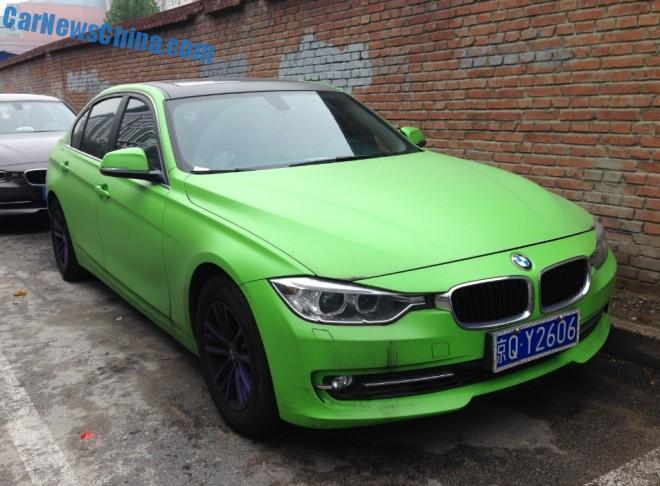 BMW 320Li is matte light green in China
