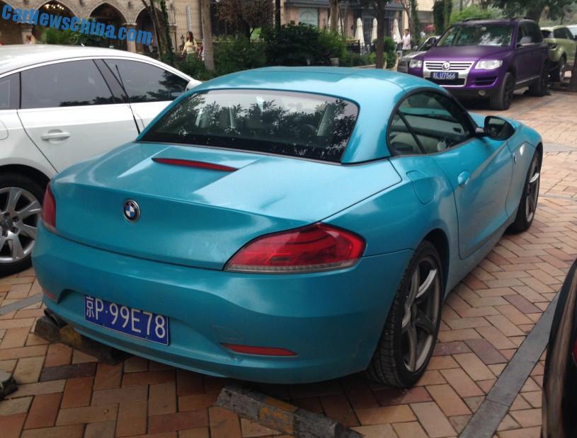 Bmw Z4 Is Baby Smurf Blue In China Carnewschina Com