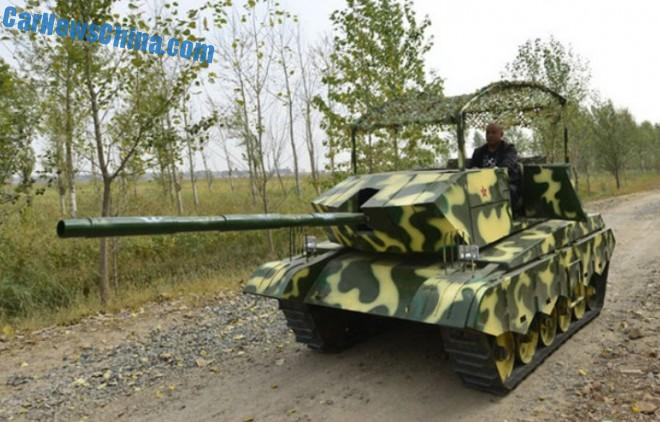 Chinese farmer builds Tank