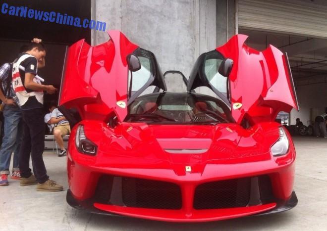 china Super Car Super Spot: Ferrari LaFerrari in Chengdu
